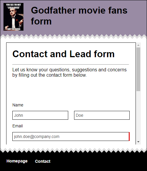 How to embed a form into your website using a form builder